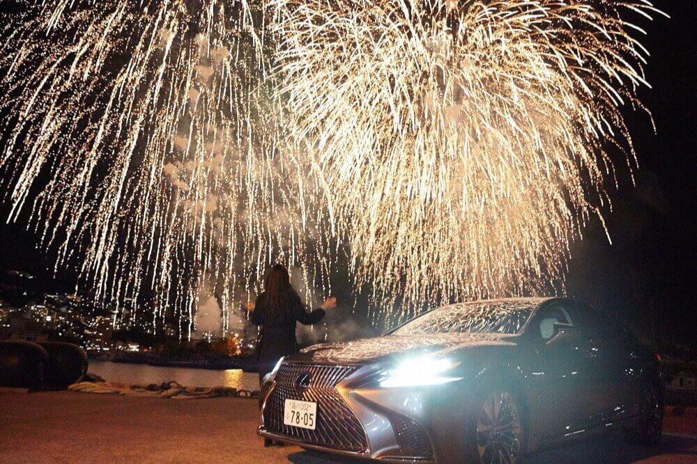 いまの生活に車は必要ない男がレクサス最高級「LS」を買った話。【冬の花火大会編】